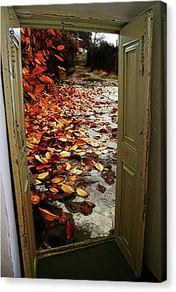 Autumn's Door Canvas Print by Nahid Nobari