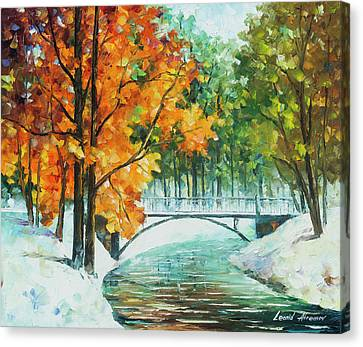 Autumn's End Canvas Print by Leonid Afremov