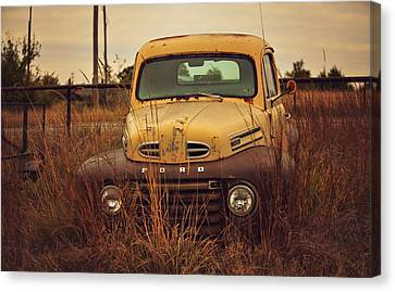 Autumn's Ford In The Field Canvas Print