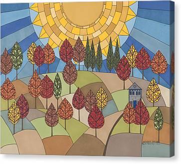 Autumn's Tapestry Canvas Print by Pamela Schiermeyer