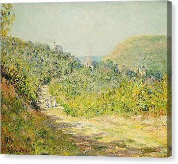 Aux Petites Dalles Canvas Print by Claude Monet