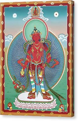 Tibetan Canvas Print - Avalokiteshvara Korwa Tongtrug by Sergey Noskov