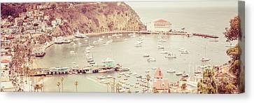 Avalon California Catalina Island Panorama Photo Canvas Print