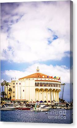 Avalon Casino Catalina Island Vertical Picture Canvas Print by Paul Velgos