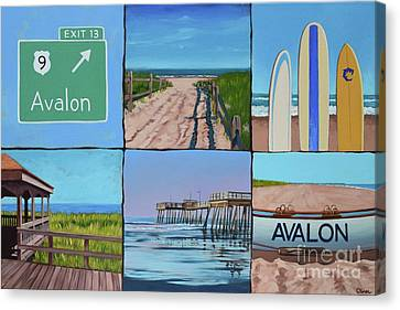 Avalon Montage  Canvas Print by Elisabeth Olver