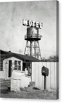 Canvas Print featuring the photograph Avalon Motel by Elena Nosyreva