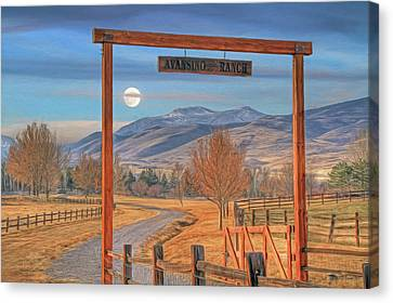 Avansino Ranch Canvas Print by Donna Kennedy