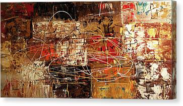 Canvas Print featuring the painting Avant Garde by Carmen Guedez