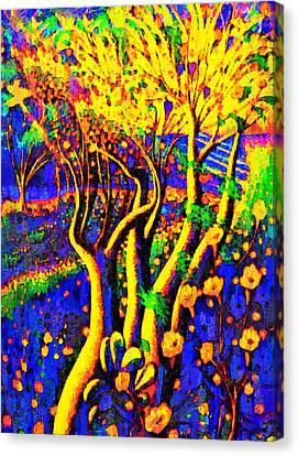 Textured Canvas Print - Avatar Forest - Da by Leonardo Digenio