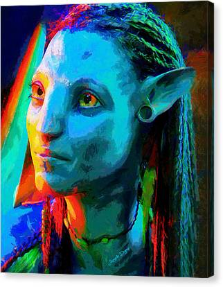 Avatar  - Free Style -  - Da Canvas Print by Leonardo Digenio