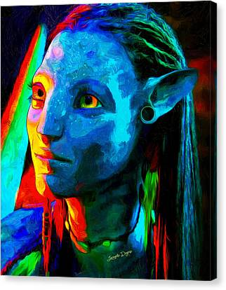 Avatar  - Van Gogh Style -  - Da Canvas Print by Leonardo Digenio