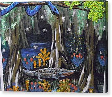 Avatatar The Alligator Canvas Print by Becky Jenney