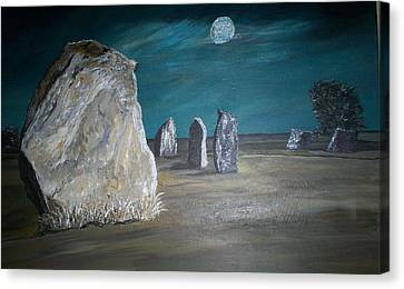 Avebury Stone Circle Canvas Print by Tracey Mitchell
