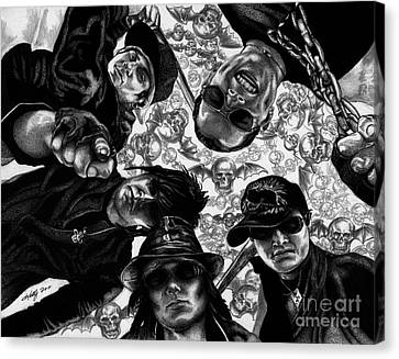 Avenged Sevenfold Canvas Print by Kathleen Kelly Thompson