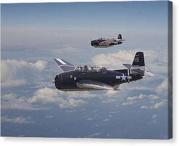 Avenger Strike Canvas Print by Pat Speirs