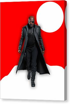 Heroes Canvas Print - Avengers Nick Fury Collection by Marvin Blaine