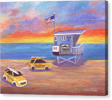 Canvas Print featuring the painting Avenue C by Jamie Frier