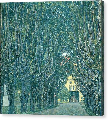 Avenue In The Park Of Schloss Kammer Canvas Print