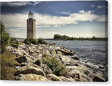 Uconn Canvas Print - Avery Point Lighthouse by Phyllis Taylor