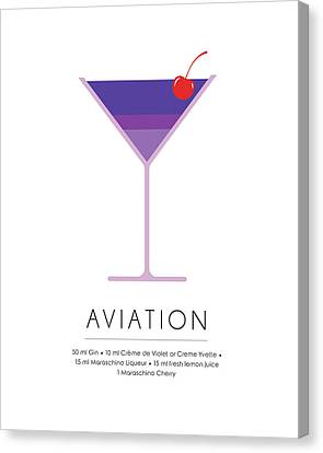 Aviation Classic Cocktail Minimalist Print Canvas Print