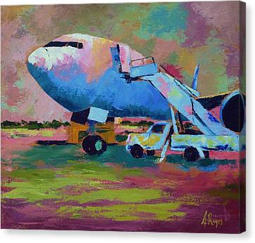 Aviationart Canvas Print - Aviation Ground Handling 1 by Angel Reyes