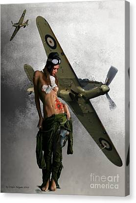Aviator Canvas Print by Crispin  Delgado