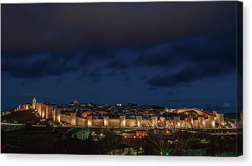 Avila At Night Canvas Print by Joan Carroll
