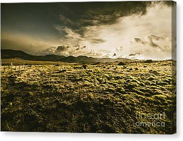 Avoca Fields And Mountains Canvas Print by Jorgo Photography - Wall Art Gallery