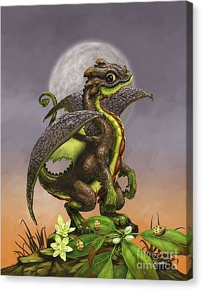 Canvas Print featuring the digital art Avocado Dragon by Stanley Morrison