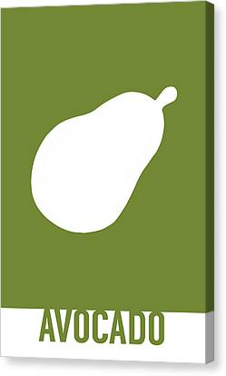 Avocado Food Art Minimalist Fruit Poster Series 021 Canvas Print by Design Turnpike