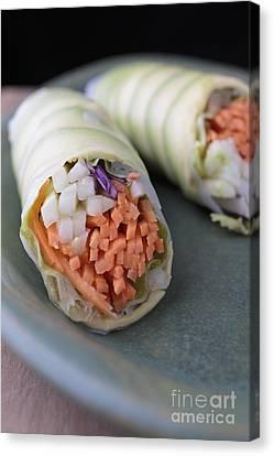 Avocado Roll Sushi Canvas Print by Edward Fielding
