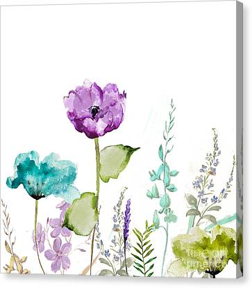 Flower Art Canvas Print - Avril  by Mindy Sommers