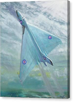 Avro Vulcan B1 Night Flight Canvas Print by Vincent Alexander Booth