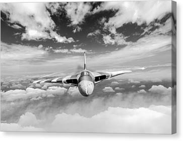 Avro Vulcan Head On Above Clouds Canvas Print by Gary Eason