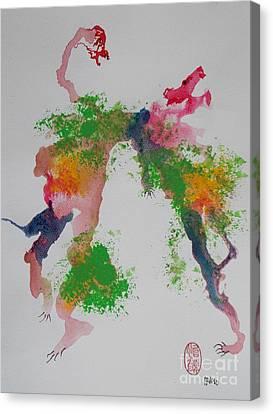 Avversari Preistorici Canvas Print by Roberto Prusso