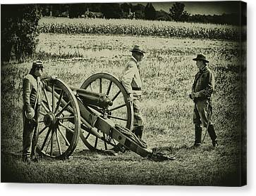 Awaiting Orders Canvas Print by Bill Cannon