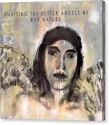Horrible Canvas Print - Awaiting The Better Angels by Lisa Page