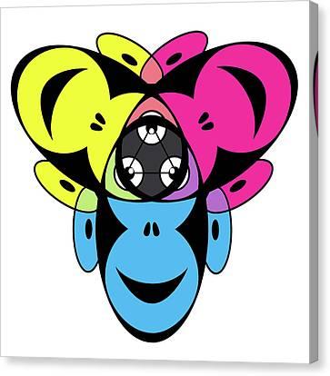 Ape Canvas Print - Awakened Ape Color Wheel by Peter Piatt