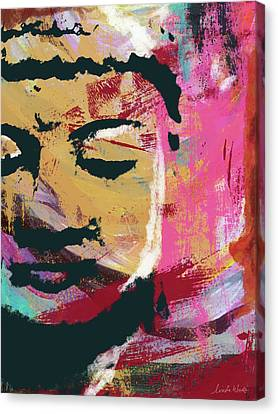 Awakened Buddha 3- Art By Linda Woods Canvas Print