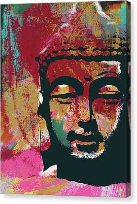 Prayer Canvas Print - Awakened Buddha 4- Art By Linda Woods by Linda Woods