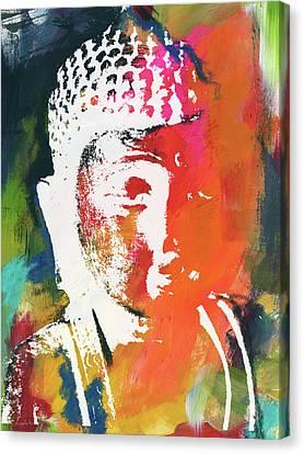 Religious Canvas Print - Awakened Buddha 5- Art By Linda Woods by Linda Woods