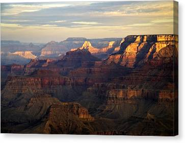 Awakening, Grand Canyon From Moran Point, Arizona, Usa Canvas Print by Frank Peters