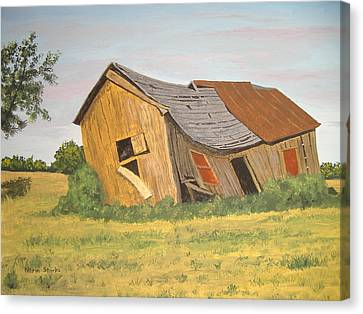 Canvas Print featuring the painting Award-winning Original Acrylic Painting - Now I Lay Me Down To Sleep by Norm Starks