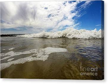 Wavy Canvas Print - Awash Ashore by Dan Holm