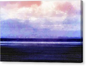 Awash In Violet Canvas Print