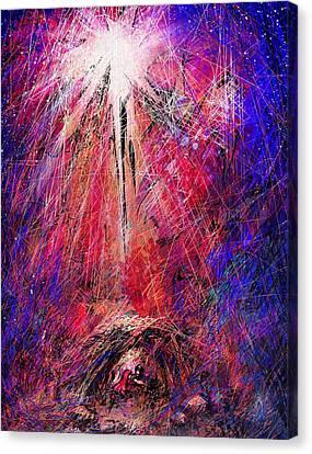 Away In A Manger Canvas Print by Rachel Christine Nowicki