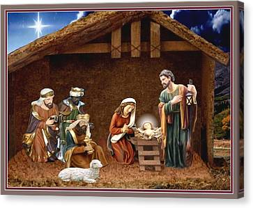 Away In The Manger Canvas Print by Ron Chambers
