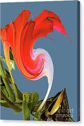 Canvas Print featuring the digital art Away We Go - Digital Art by Merton Allen