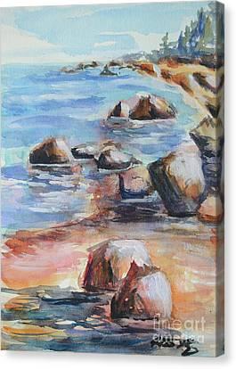 Awenda Shore Canvas Print by Heather Kertzer