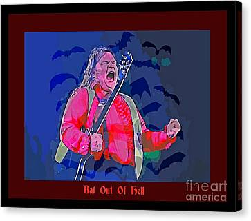 Awesome Meatloaf Poster Canvas Print